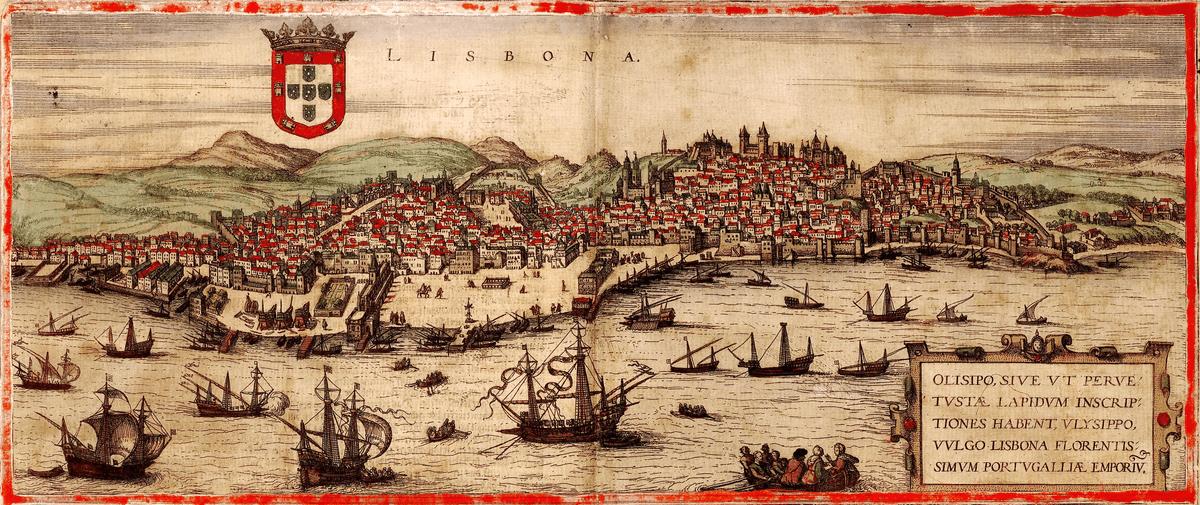 Segelschiffe vor Portugal - Gemälde