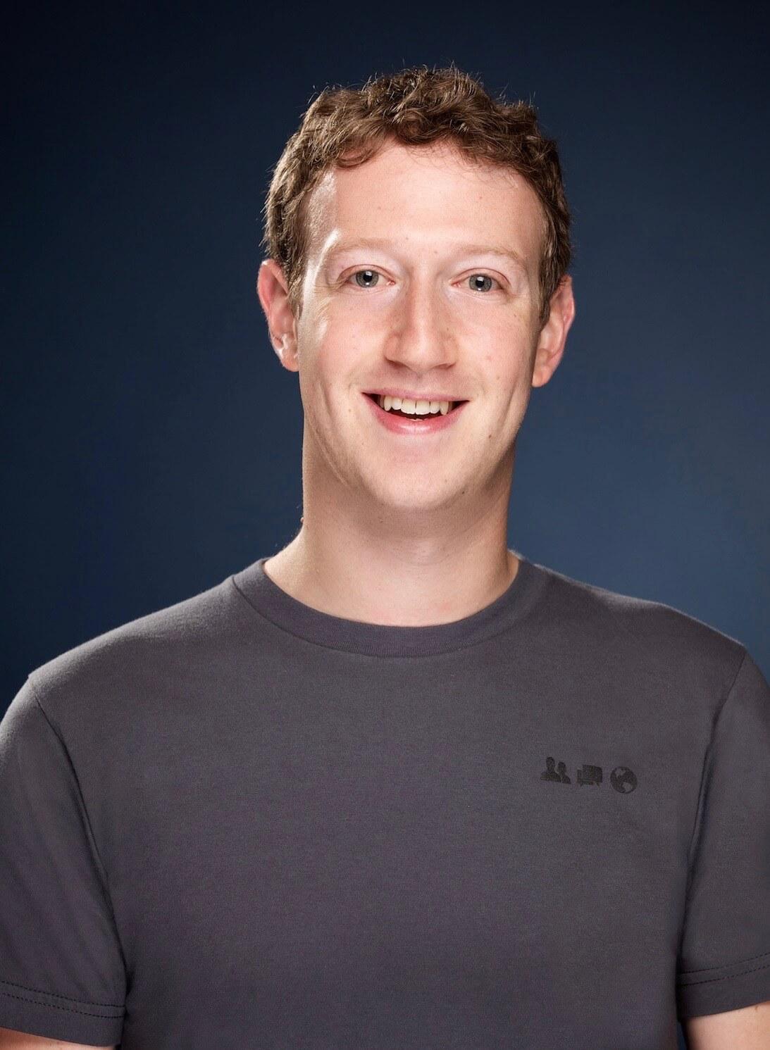 Facebook Gründer im grauen T-Shirt