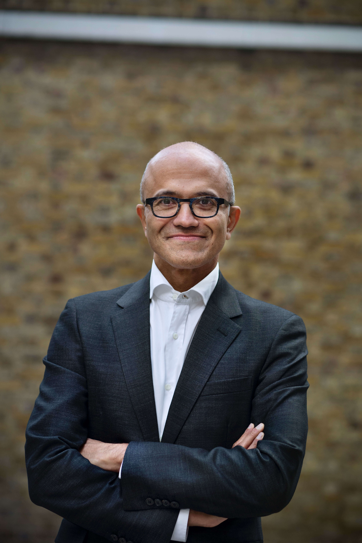 Satya Nadella, CEO von Microsoft, Aussenaufnahme