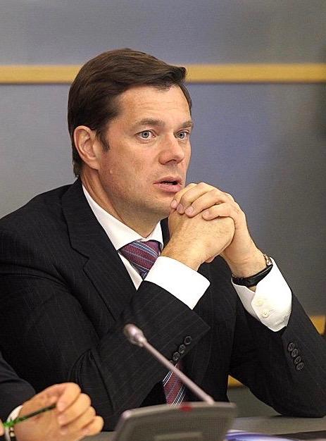 Severstal CEO Alexei Mordashov im Meeting mit der Stahlindustrie
