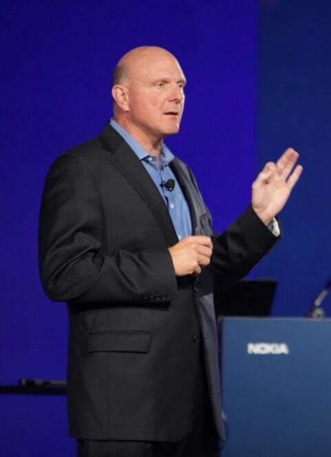 Steve Ballmer präsentiert bei Nokia