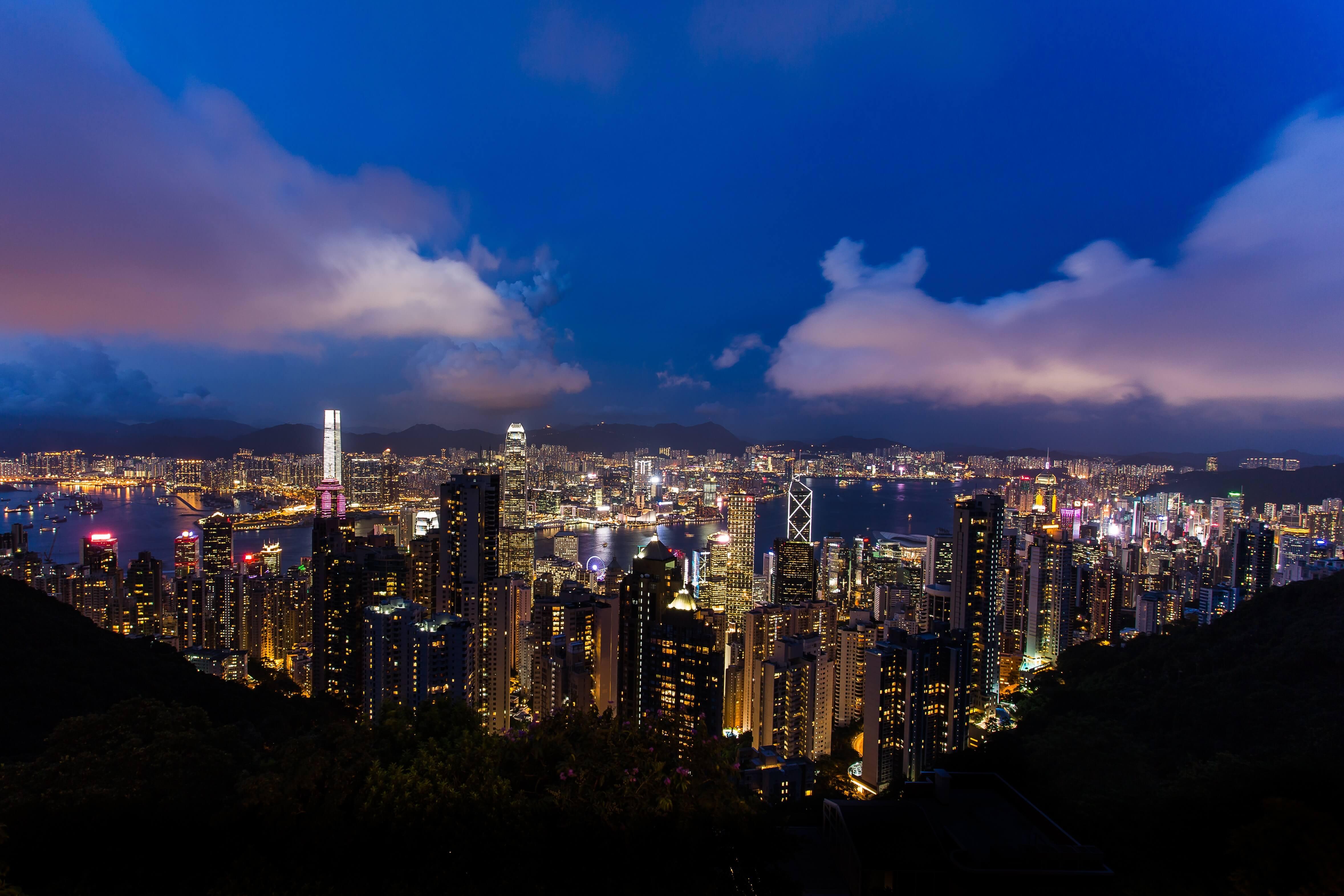 Nachaufnahme von Hongkong