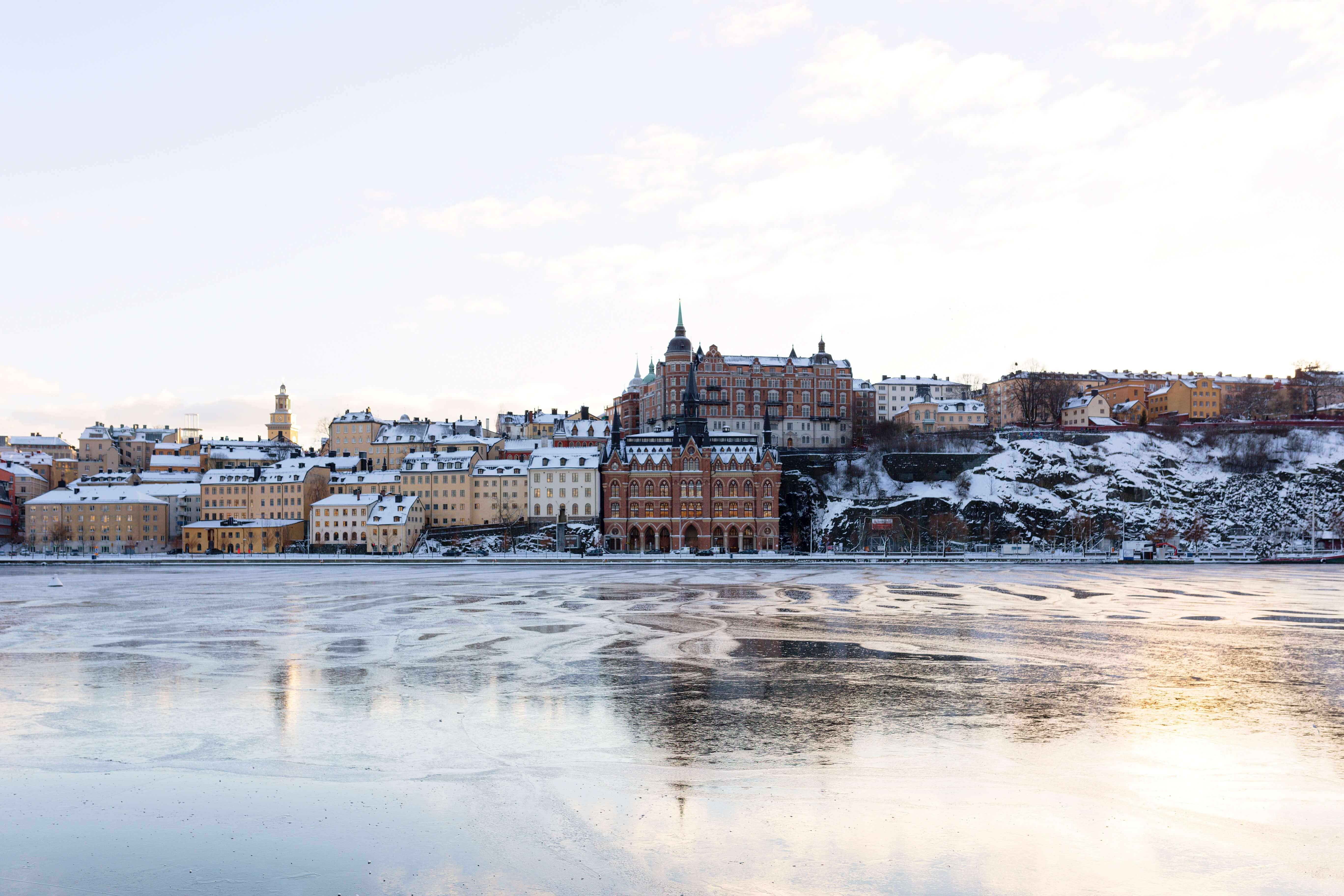 Häuser am Eismeer