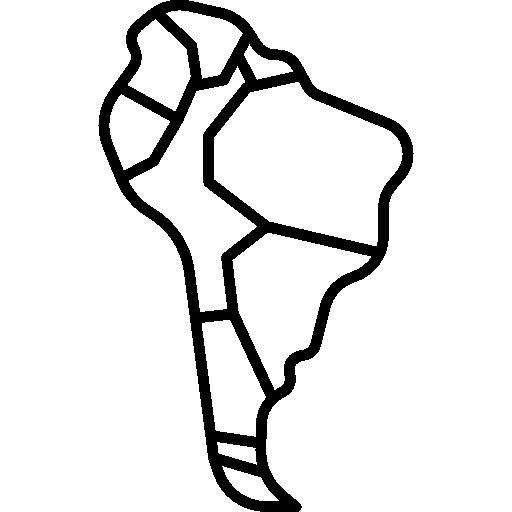 Karte von Südamerika